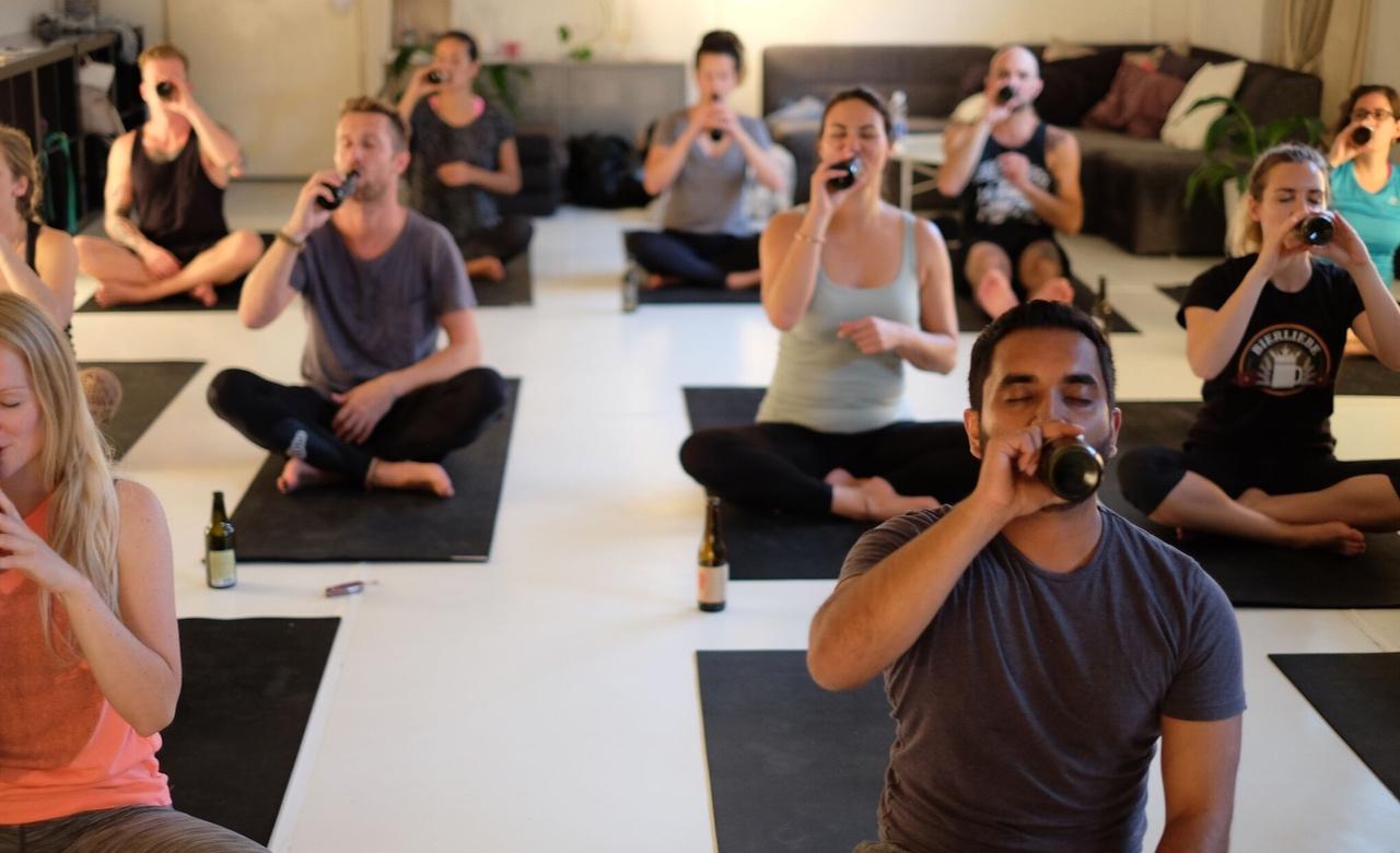 Пивная йога — идеальное расслабление